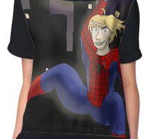 Spider-Ed  Chiffon Top