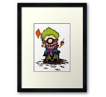 Minion Joker Framed Print