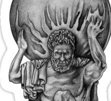 Atlas - Greek Mythology Statue Sticker