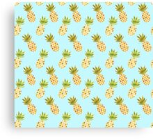Watercolour Pineapples Pattern Canvas Print