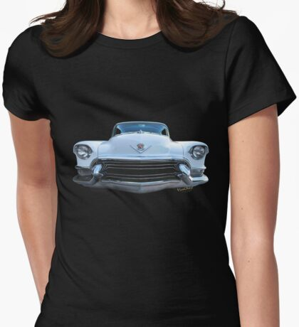 55 Cadillac Down Inna Meadow Up In Kerrville Womens Fitted T-Shirt