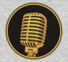 Vintage Gold Microphone Kids Tee