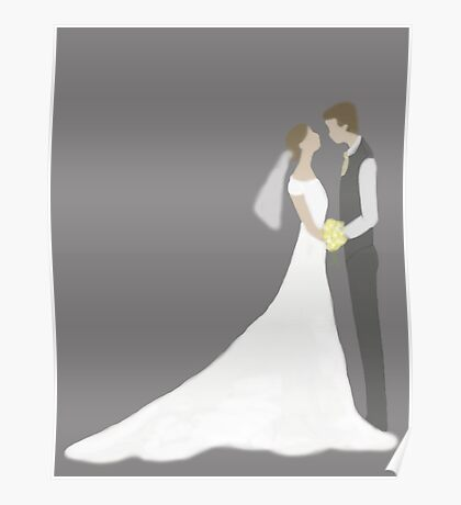 Bride & Groom Poster