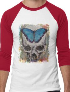 Butterfly Skull Men's Baseball ¾ T-Shirt