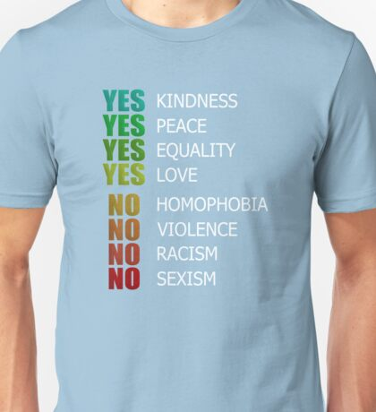 Gay Pride LOVE IS LOVE Rainbow, Pride Week Swag, Equality Gifts, Equal Rights, Love Everyone Unisex T-Shirt