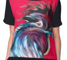 big red rooster Chiffon Top