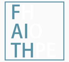 FAITH and HOPE (light blue, white) - LDStreetwear Kids Tee