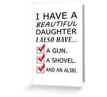 beautiful daughter Greeting Card