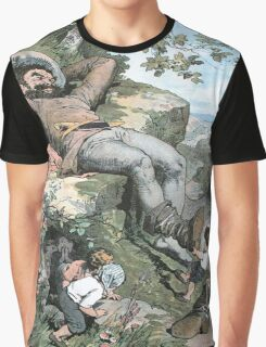Fairy Tales, Tom Thumb and the Giant, Alexander Zick, 1865 Graphic T-Shirt