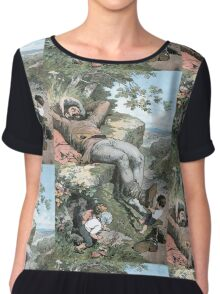 Fairy Tales, Tom Thumb and the Giant, Alexander Zick, 1865 Chiffon Top