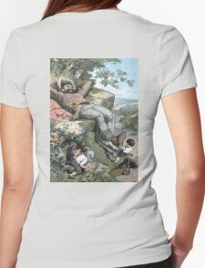 Fairy Tales, Tom Thumb and the Giant, Alexander Zick, 1865 Womens Fitted T-Shirt