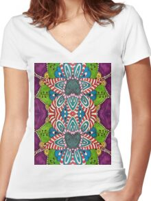 Gypsy Flower Women's Fitted V-Neck T-Shirt