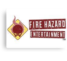 Fire Hazard Entertainment Banner Canvas Print