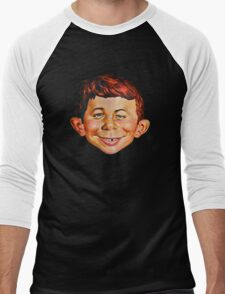 Alfred E. Neuman Men's Baseball ¾ T-Shirt