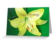 Birthday Card - Yellow Lily Greeting Card