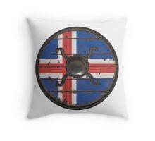 Icelandic Viking Shield Throw Pillow
