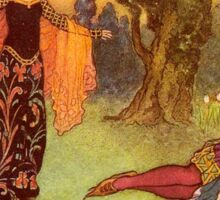 Fairy Tale, Beauty and the Beast, illustration by, Warwick Goble, 1913 Sticker