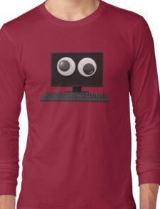 Googly-Eyed Computer Long Sleeve T-Shirt