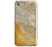 Gold Gray Marble Pattern iPhone Case/Skin