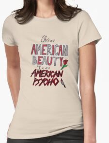 American Beauty / American Psycho Womens Fitted T-Shirt