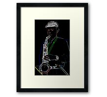 She Married a Music Man... Framed Print