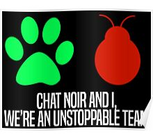 Chat Noir and I, we're an unstoppable team. Poster