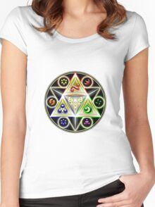 legend of zelda - ocarina of time, the 6 of ages Women's Fitted Scoop T-Shirt