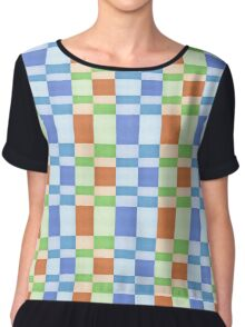 Scottish tartan Chiffon Top