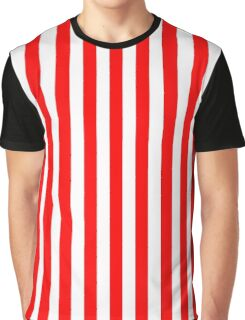 Red and white stripes - Pixel Field Series design Graphic T-Shirt