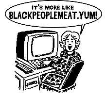 Black People Meet dot com Photographic Print