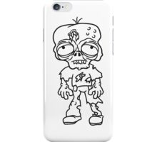 traurig müde zombie lustig gesicht kopf untot horror monster halloween  iPhone Case/Skin