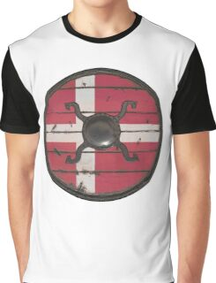 Danish Viking Shield Graphic T-Shirt