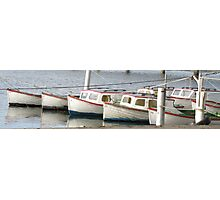 The Entrance Wooden Boats Photographic Print
