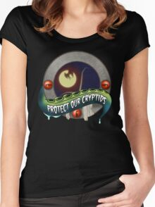 Cryptid Preservation Society (Color) Women's Fitted Scoop T-Shirt