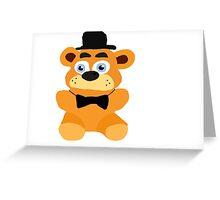 Freddy plush Greeting Card