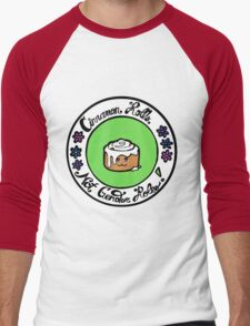 Cinnamon Rolls, Not Gender Roles! Men's Baseball ¾ T-Shirt