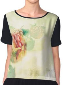 Spring Flowers Double Exposure Chiffon Top