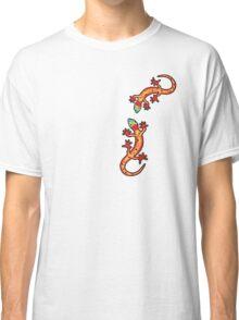 Zwei Geckos bunt Classic T-Shirt