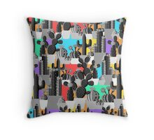 Happy Cactus Throw Pillow
