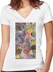 Pallete Women's Fitted V-Neck T-Shirt