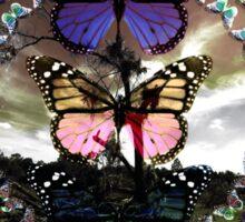 Butterfly March Sticker