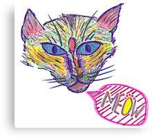 Artistic Cat w/ Black & White Canvas Print