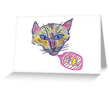 Artistic Cat w/ Black & White Greeting Card