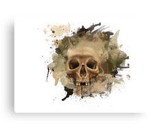 Melting Skull Canvas Print