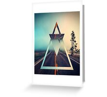 Triangle Summer Road Greeting Card