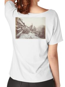 Central Pacific, Steam, Train, Railroad, Cape Horn, c 1880 Women's Relaxed Fit T-Shirt