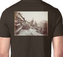 Central Pacific, Steam, Train, Railroad, Cape Horn, c 1880 Unisex T-Shirt
