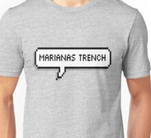 Marianas Trench Pixel Speech Bubble Unisex T-Shirt