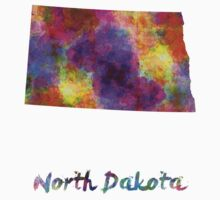 North Dakota US state in watercolor Kids Clothes