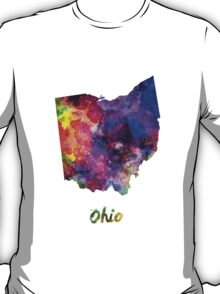 Ohio US state in watercolor T-Shirt